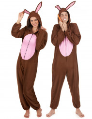 Par i bruna kaniner - Pardräkt för vuxna till maskeraden