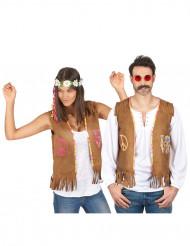Par i Hippievästar - Pardräkt för vuxna