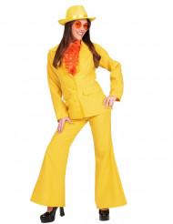 Gul kostym dam