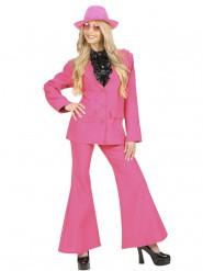 Rosa kostym med trumpetbyxor - Maskeraddräkt för vuxna