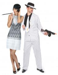Vitt Charleston par - Pardräkt för vuxna