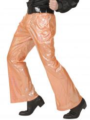 Orange holografisk discobyxan herrar