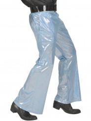 Blå holografisk discobyxan herrar