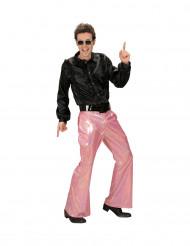 Holografisk discobralla i rosa - Maskeraddräkt för vuxna