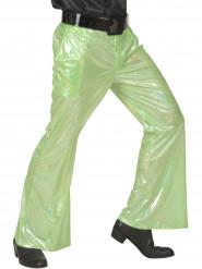 Holografisk discobyxa i grönt herrar