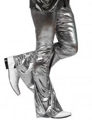 Holografisk discobyxa i silverfärg herrar