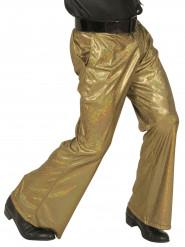 Guldfärgad holografisk discobyxa herrar