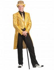Frack i guld med paljetter - Maskeraddräkt för vuxna