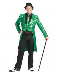 Grön paljettfrack - Maskeraddräkt för vuxna