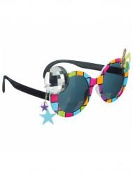 Multifärgade discoglasögon för vuxna