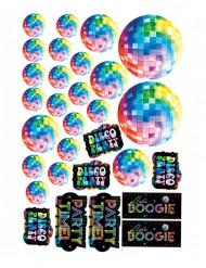 30 Disco-dekorationer i kartong