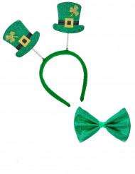 Kit med diadem och fluga till St. Patrick