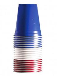 20 Muggar i blått-vitt-rött 530 ml
