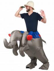 Uppblåsbar elefantkostym för Vuxna