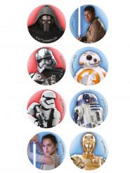 16 tårtbilder i miniformat från Star Wars™ 3,4 cm
