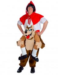 Kostym som rödluva med vargrygg vuxna