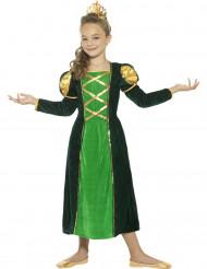 Medeltida drottning i grönt - Maskeradkläder för barn