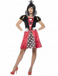 Kostym som spelkortsdrottning dam