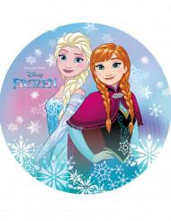 Tårtbild från Frost™ med Anna och Elsa