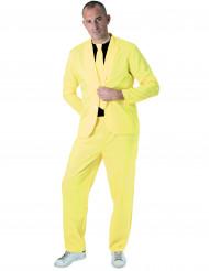 Trendig neongul kostym för vuxna