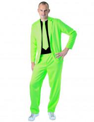 Trendig neongrön kostym för vuxna!