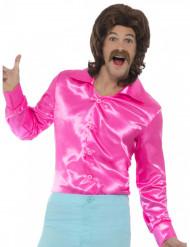 Neonrosa discoskjorta för vuxna