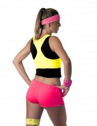 Minishorts i neonrosa till UV-partyt