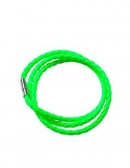 Neongrönt flätat armband