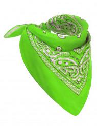 Neongrön bandana - Maskeradtillbehör för vuxna