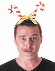 Diadem med polkagris för vuxna till jul