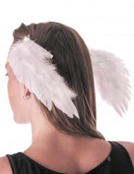 Hårklämmor med vita vingar