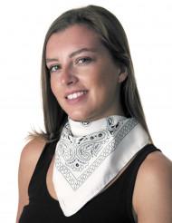 Klassisk vit scarf - Maskeradtillbehör
