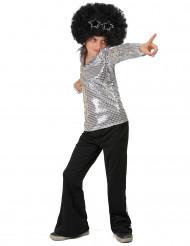 Discokille med silver & paljetter - Maskeradkläder för barn