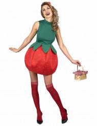 Fröken jordgubbe - Maskeraddräkt för vuxna