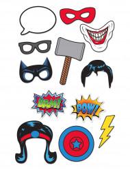Superhjälte Photobooth med 12 delar