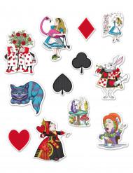 12 Alice i fantasilandet kartong dekorationer