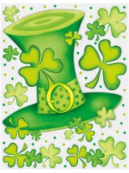Fönster dekoration till Saint Patrick