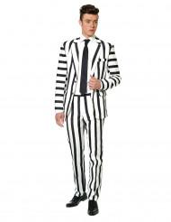 Mr. Randig Svartvit Suitmeister™ kostym