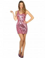 Sexig rosa discokostym dam
