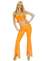 Maskeradkläder för vuxna 60-tal   70-tal Dam L   one-size Orange ... d1a489b9fe798