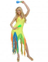 Barsseklänning i neongult - Maskeraddräkt i neongult