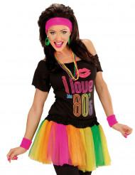Regnbågsfärgad tyllkjol för vuxna