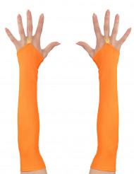 Orangea ärmar till UV-festen