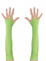 Neongröna ärmar för vuxna