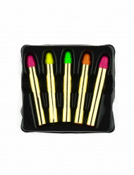 5 sminkkritor i neonfärger
