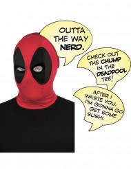 Lyxig Deadpool™-huva med pratbubblor för vuxna