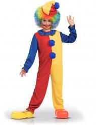 Tvåfärgad clowndräkt för barn