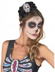 Diadem med kranium i Dia de los Muertos-stil