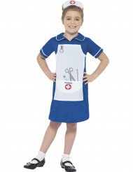 Blå sjuksköterskedräkt barn
