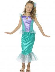 Grön sjöjungfru med fiskfjäll barndräkt